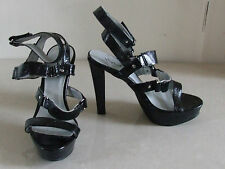 BNWB UK 4 Stuinning Black High Heels Stiletto Shoes Sandals EU 37 New With Box