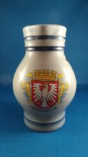 Pottery Pitcher - Frankfurt a.M Crest - Handarbeit German made - Blue,Red,Yellow