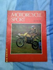 "Motorcycle Sport (May 1980) Five NVT prototype""s test/Honda cb650/"