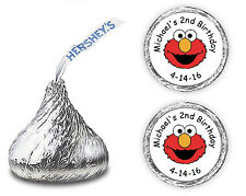 108 ELMO BIRTHDAY PARTY CANDY KISSES LABELS FAVORS WRAPPERS STICKERS DECALS