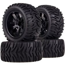SET 1/10 Monster Truck 12MM HEX Wheel Rim & Tyre,Tires 88064 Fit TRAXXAS HSP HPI