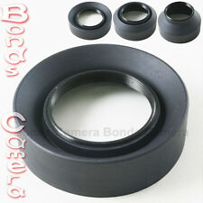 62mm 62 mm 3-Stage Rubber Screw Lens hood for Canon Nikon Sigma Sony camera lens