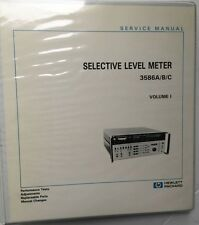 HP 3586A/B/C Selective Level Meter Service Manual Volume 1 P/N 03586-90002