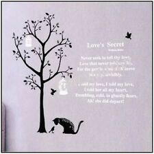 Black Cat Tree Bird Cage Wall Sticker Decal Home Decor Vinyl Removeable