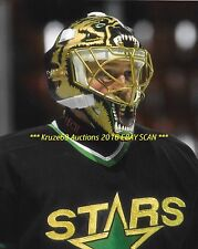 ANDY MOOG Up CLOSE w/SCARY BEAR MASK 8x10 Photo DALLAS STARS Goalie 372 WINS~@@