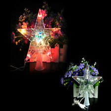 Luxury Xmas Christmas Tree Topper Star Light Party Color Changing LED Lamp Decor