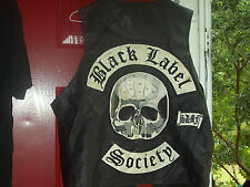 BLACK LABEL SOCIETY - RARE 90`s LEATHER VEST WITH BACK PATCH.