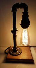 Retro Industrial Pipe Lamp Steampunk style with Edison bulb