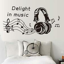 Headset Music Notes Wall Sticker DIY Removable Home Mural Decal Vinyl Art Decor