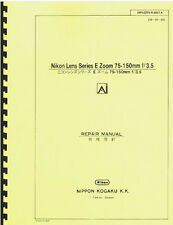 Nikon Series E 75-150mm F3.5 Ai Zoom Lens Repair Manual