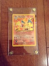 Pokemon Charizard Base Set Holo Rare Holy Grail #4/102 & Case