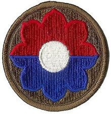 US ARMY 9TH INFANTRY DIVISION PATCH - FULL COLOR