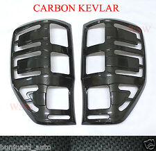 CARBON KEVLAR COVER REAR TAIL LIGHT LH+RH FOR FORD RANGER 2012+ T6 MINOR CHANGE
