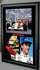 "Ayrton Senna F1 Williams & McLaren Framed Canvas Signed Print ""Great Giftr"""