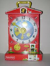 FISHER PRICE MUSIC BOX TEACHING CLOCK MATTEL WIND UP 2009