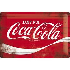 COCA COLA LOGO RED * BAR SOFTDRINK * BLECHSCHILD * NOSTALGIE * 20X30 * NEU!