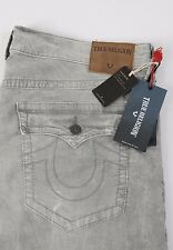 Men's True Religion Jeans RICKY Relaxed Straight Leg Size 40 NEW Corduroy Grey