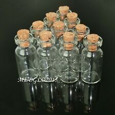 50pcs 2ml Small Tiny Empty Clear Glass Bottles Vials with Cork 16*35mm