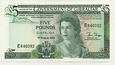 Gibraltar 5 Pounds 4-8-1988 Pick 21.b UNC Uncirculated Banknote