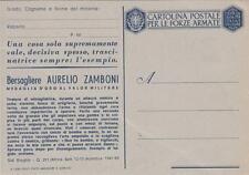 A8901) WW2 FRANCHIGIA NON EMESSA, M. O. ZAMBONI DA COLOGNA (BERRA, FERRARA).