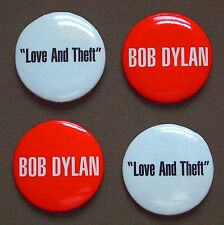 "BOB DYLAN Love And Theft Album PROMO 1"" Buttons Pins Round Badges Pinback 2001"