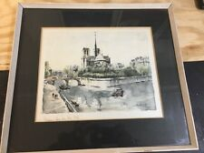 Artist Herbelot French watercolors signed Paris France
