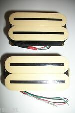 NEW set ARTEC HOT RAILS - HXTN - humbuckers Ivory rails nickel black