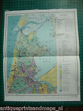 Old map North Holland Haarlem Amsterdam 1975 landkaart Noord Holland