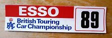 1989 Esso RAC British Touring Car Championship Racing Motorsport Sticker Decal