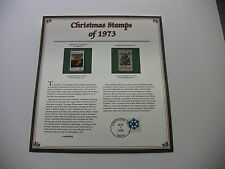 8 Cent Small Cowper Madonna and Needlepoint Christmas Tree 1973 Christmas Stamps