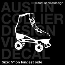 "5"" ROLLER DERBY SKATE vinyl decal car truck window laptop sticker - girl gift"