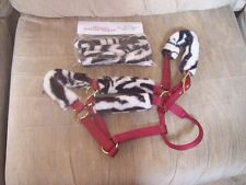 NEW---HORSE HALTER TUBES---Acrylic Fleece Fur--Prevents Halter Rubs--Zebra Print