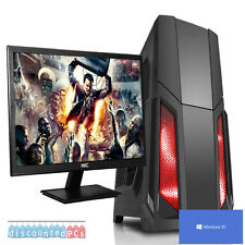 ULTRARRÁPIDA AMD Quad Core 8GB 1TB Escritorio Gaming PC Ordenador HD 22'' Lote