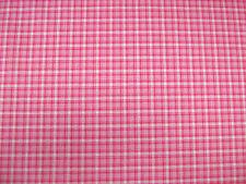 Tartan Pink Check Polycotton Prints Craft / Dress Fabric SOLD PER METRE