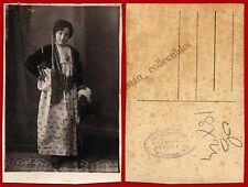 #20301 ATHENS Greece 1930s. Girl [traditional costume]. Photo PC size SPIGGOS