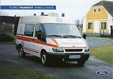 Ford Transit Ambulance 2001 catalogue brochure RTW KTW