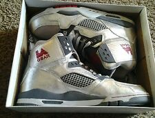 LA Gear Retro Kaj Hi-Top unstoppable  silver red Mens US size 12 wings lebron