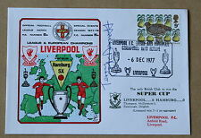 LIVERPOOL V HAMBURG EUROPEAN SUPER CUP 1977 DAWN COVER SIGNED BY TERRY McDERMOTT