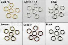 Jump Ring 4mm 5mm 6mm 10mm 12mm 14mm Open Or Split Single Connectors Jewelry DIY