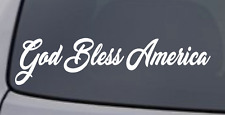 GOD BLESS AMERICA Vinyl Decal Sticker Car Window Wall Bumper Patriotic Love USA