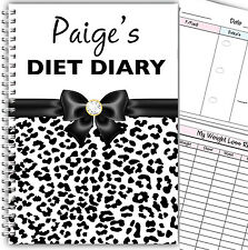 PERSONALISED A5 DIET DIARY /PLANNER/ FOOD DIARY/ WEIGHT LOSS/ SLIMMING LOG BOOK