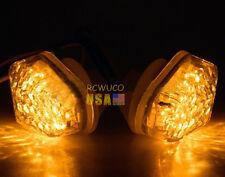 Clear LED Flush Mount Turn Signal Light Suzuki GSXR 600 750 1000 DL SV 650 12V