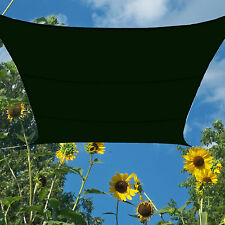 Patio Yard Sun Sail Shade Forest Green Waterproof Polyester 16.5' Ft Square Cool