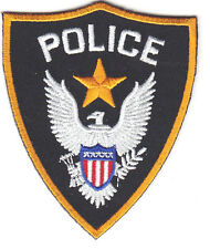 """POLICE"" SHIELD BADGE w/EAGLE - IRON ON EMBROIDERED PATCH - LAW ENFORCEMENT"