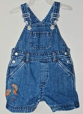 GYMBOREE Size 3-6 Months Blue Denim Snap Crotch 5 Pockets Jumper Overalls