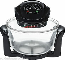 Andrew James 12 LTR Black Premium Halogen Oven 1300 Watts