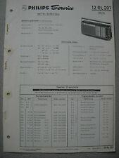 Philips 12 RL201 Kofferradio Rex SL Service Manual, Ausgabe 01/70