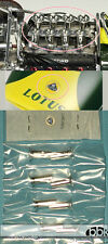 TAMIYA ALU TURNED INLET AIR FUNNELS (8pc) + 3D LOTUS EMBLEM for 1/12 LOTUS 49