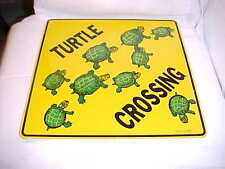 "Crosswalks "" Turtle Crossing "" Metal ""TIN"" Sign 12"" x 12"" 9 TURTLES CROSSING"