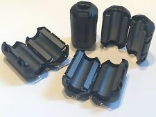QUANTITY 4 CLIP ON FERRITE CLAMP CABLE NOISE SUPPRESSOR MEDIUM SIZE 9MM   blb67